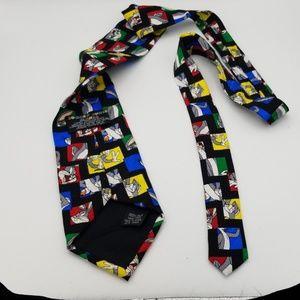 Looney Tunes Mania Bugs Bunney necktie 1995 silk
